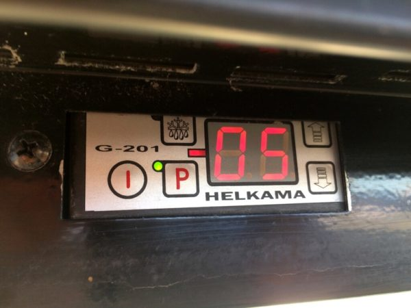 холодильный шкаф 5…5 Helkama БУ управление