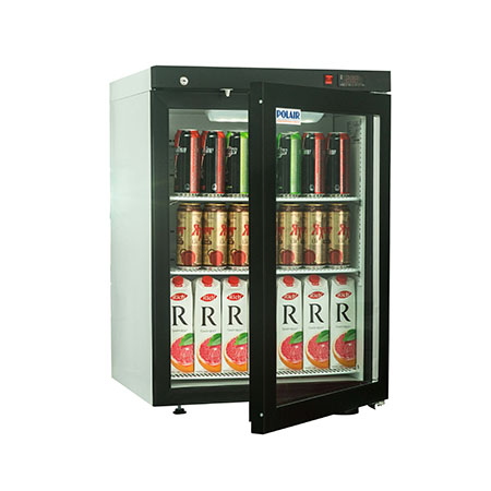 Polair холодильный шкаф cо стеклянными дверьми DM102 Bravo с замком