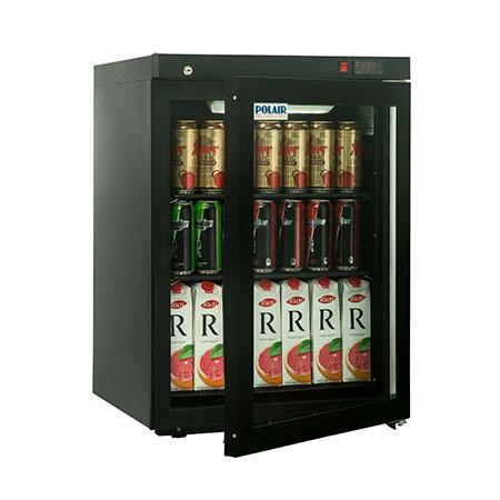 Polair холодильный шкаф cо стеклянными дверьми DM102 Bravo черный с замком