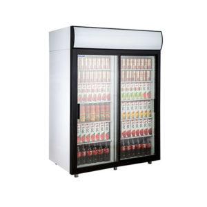 Polair холодильный шкаф cо стеклянными дверьми DM110Sd S версия 2.0